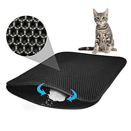 884d4f818 Generic Cat Litter Mat Trapper Catcher Double-Layer Honeycomb Scatter  Control Large Mats