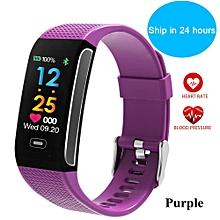 CK18S Smart Fitness Bracelet Band Color Screen Bluetooth Wristband Waterproof Heart Rate Passometer Fitness Tracker Sleep Smart Watch BDZ