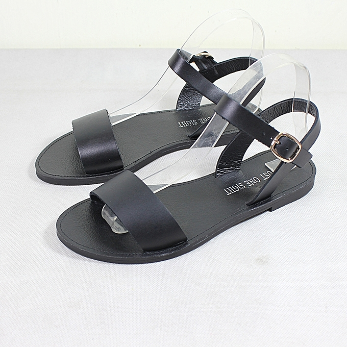 Sandals Ladies Leather Blackbest Summer Flat Fashion Price 9ihwed2y c5Lq3R4jA