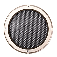 "1pcs 5"" inch Black Audio Speaker Cover Decorative Circle Metal Mesh Grille Gold"