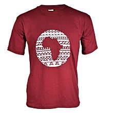 Maroon Tribal Afro T-shirt