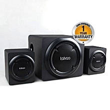 MP-8117 High End Hi-Fi Multimedia 2.1 Subwoofer With Bluetooth & FM Radio RMS 50W..