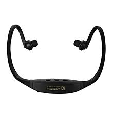 Bluetooth V4.0 Stereo Neckband Sports Earphones W/ TF Slot - Black