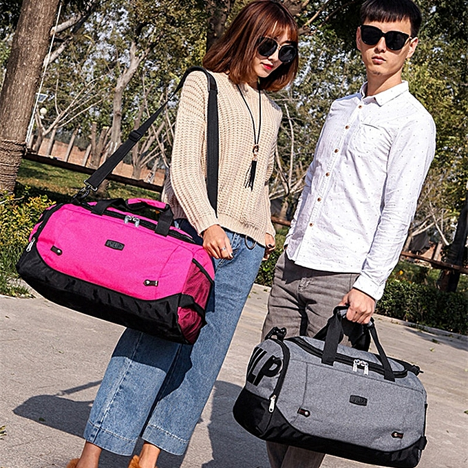 23337e448 New Men nylon travel bag Large Capacity 2 in 1 carry on luggage duffle pack  sport