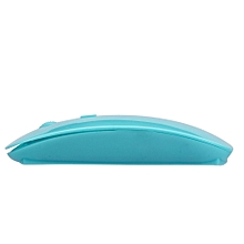 Slim 2.4 GHz Optical Wireless Mouse + Receiver For Laptop PC Apple computer -Mint Green