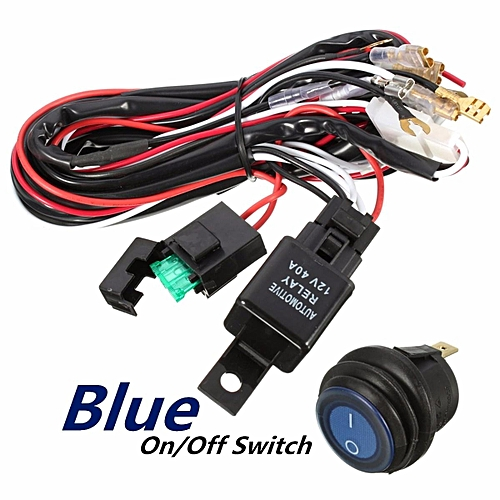 Generic 40 Amp Off Road Atv Jeep Led Light Bar Wiring Harness Relay