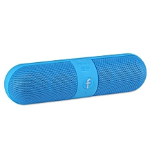 Portable Capsule Wireless Bluetooth Stereo Speaker For Smart Phone Laptop-Blue