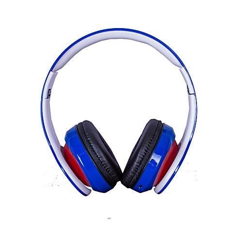 Blue Headphones - Bluetooth/FM/SD BLUE -RED