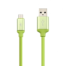 Cable General Data Line Stripe 2.1A Mobile Line for Android green