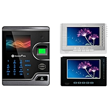 Realand M100 2.8inch Touch Screen Visual Biometric Fingerprint Card Door Access Control with Video Intercom Sliver
