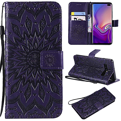 47003ff37 Generic Samsung Galaxy S10 Plus Wallet Case,Sunflower with Shockproof  Kickstand Credit Card Holder Flip Magnetic Closure Protection Wallet  Leather PU Cover ...