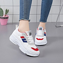 Round Toes Flat Women Sports Shoes Red