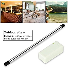Collapsible Portable Reusable Stainless Steel Straw For Outdoor Travel Household