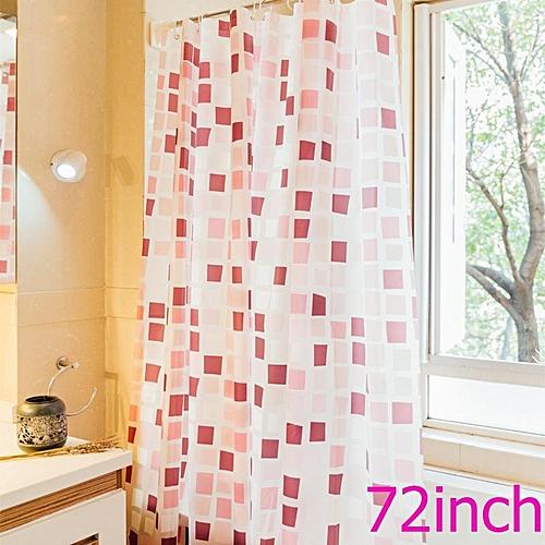 180 X Cm Home PEVA Waterproof Shower Curtain Water Resistant Bathroom Gadget Window Curtains Red