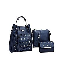 Blue Ladies Handbag 3 in 1