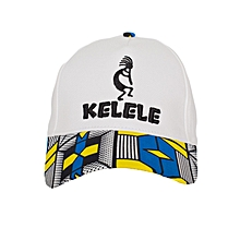 White And Blue Baseball / Sports Hat With Kelele Color On Brim