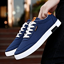 Explosion Fashion Men Canvas Men's Shoes Trend Breathable - Blue