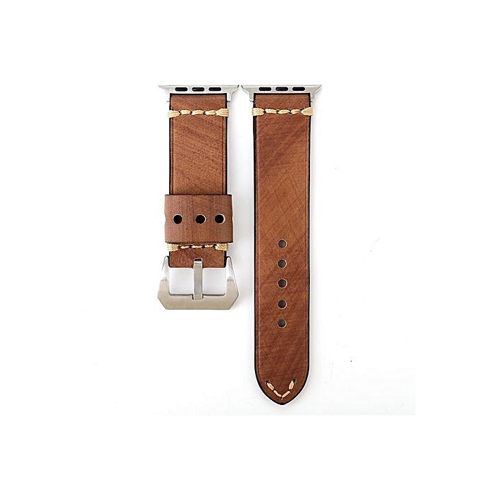 048412da5a2 Watch Retro High-Quality Leather Strap Replacement Watch Band For Apple  Watch 42mm-AS ...