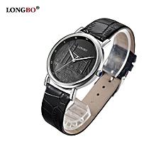 Watches, 80035L Brand Luxury Quartz Watch Casual Fashion Leather Strap Watches Men Sports Wristwatch - Black