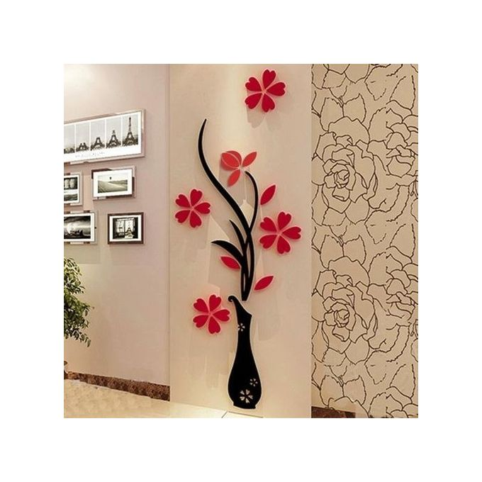 Sunweb 1 Pack 3d Diy Floral Wall Decor Stickers Wall Art Home Living Room Vinyl Decor Buy