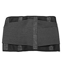 Women Waist Cincher Trainer Sport Fitness Workout Girdle Belt Corset Body Shaper  Black L