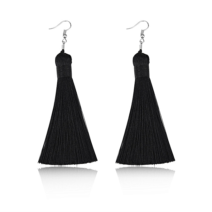 Buy Fashion Jewelry Black Tassel Earrings Jewelry Set Earrings