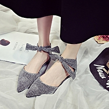 Tectores Spring&Summer Woman Shoes Ankle Straps Buckle Flats Pointed Toe Shoes Gift