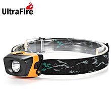 W01 120Lm AAA Compact LED Headlamp - Black+Orange