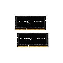 Technology HyperX Impact 16GB (2 x 8G) 204-Pin DDR3 SO-DIMM DDR3L 1600 MHz (PC3L 12800) Laptop Memory Model HX316LS9IBK2/16