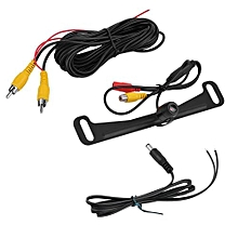 OR Universal License Plate Mount Auto Car Rear View Backup Parking Reverse Camera Black