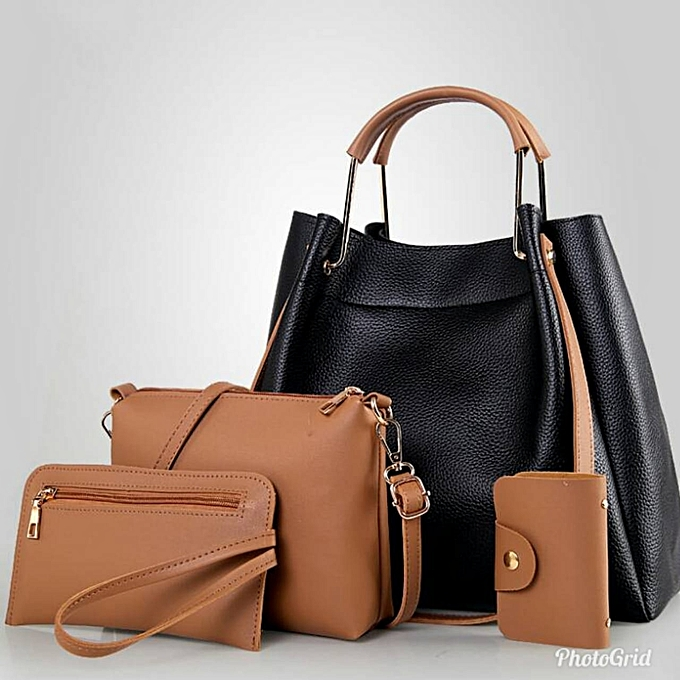 bc01b99aae7 Generic 4 in 1 Handbag - Black   Brown   Best Price