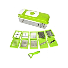 11 in 1 Vegetable Slicer & Chopper - Green & White