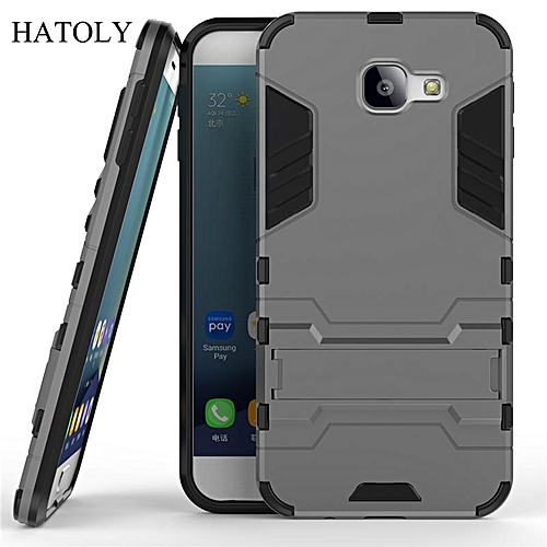 new product a4b93 5ee72 For Samsung Galaxy A8 2016 Case Robot Armor Case Hybrid Silicone Rubber  Hard Back Phone Cover For Samsung A8 2016 SM-A810 A810F