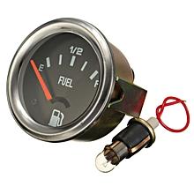 52mm Mechanical Fuel Level Gauge Without Sensor Black Face E-1/2-F Pointer 12V 220-33 Ohm