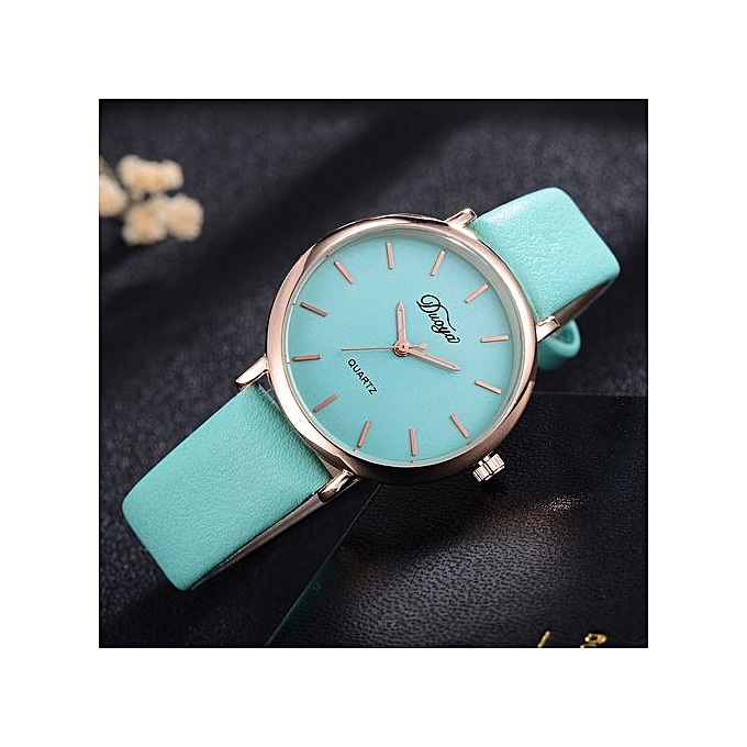 f8d6d5e98 Women Men Couple Watch Rounded Colorful Analog Pointer Quartz Watch- Green