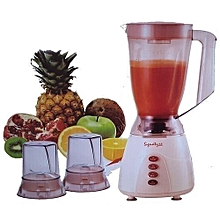 3 in 1 Blender with Grinder - 1.5 Litres - Classic Cream