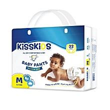 Kisskids Super Dry Disposable Pants, Size M, 6-11kgs, 32 count