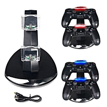 LED Dual USB Charging Charger Dock Stand Cradle Docking Station For Sony Playstation 4 PS4 Slim Game Gaming Controller