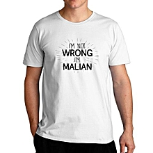 I'm Not Wrong I'm Malian Fashion Cool T-Shirt For Men