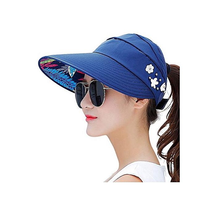 fd5e0f159f2 Generic Women Summer Sun Hats - navy blue   Best Price