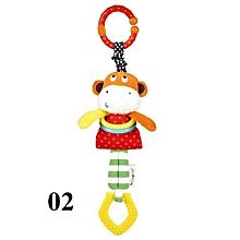 Baby Music Cow Elephant Toys Stroller Hanging Plush Dolls - Orange