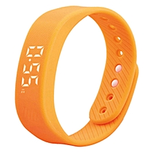 Smart Sport 3D Pedometer Wristband Watch Bracelet - Orange