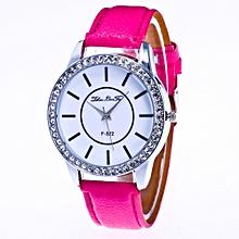 Fashion Diamonds Pattern Leather Band Analog Quartz Vogue Wrist Watches HOT