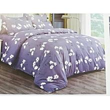 Duvet Cover 100% Grey Flowered