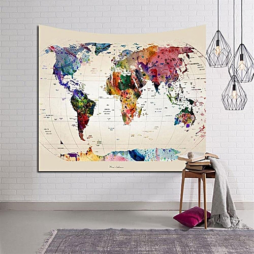 Buy louis will multipurpose world map design tapestry wall hangings multipurpose world map design tapestry wall hangings beach towel shawl tablecloth gumiabroncs Image collections