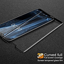 3D Curved Full Coverage Tempered Glass Protector For Nokia X6 Glass Screen Protector