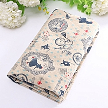 10 Vintage Europe Styles Natural Cotton Linen Fabric Cloth Sewing Craft G