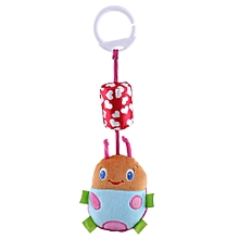 Infant Baby Animal Rattles Bed Stroller Hanging Bells Plush Wind Chimes Doll Toy Pink Beetle