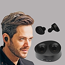 Hiamok_Bluetooth 4.1 Mini In-Ear Wireless Sport Earbuds Headset Stereo Earphone