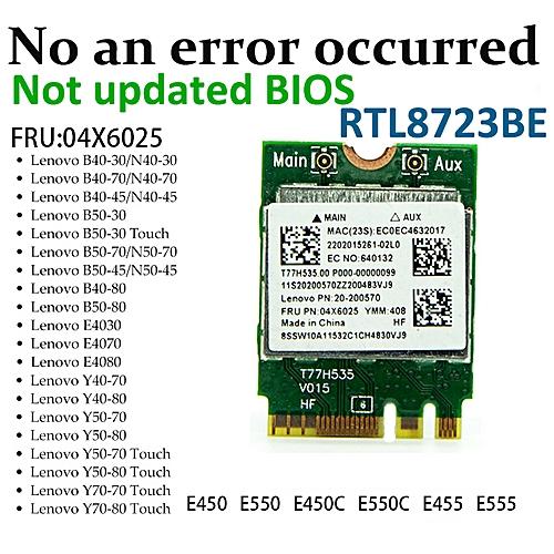 RTL8723BE 300Mbps 802 11n M2 NGFF Wireless Card Mini PCI E WiFi Adapter +  Bluetooth 4 0 for Lenovo E450 E550 E555 Y50( )